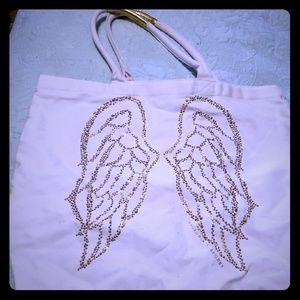 Victoria's Secret Angel Wing white canvas tote